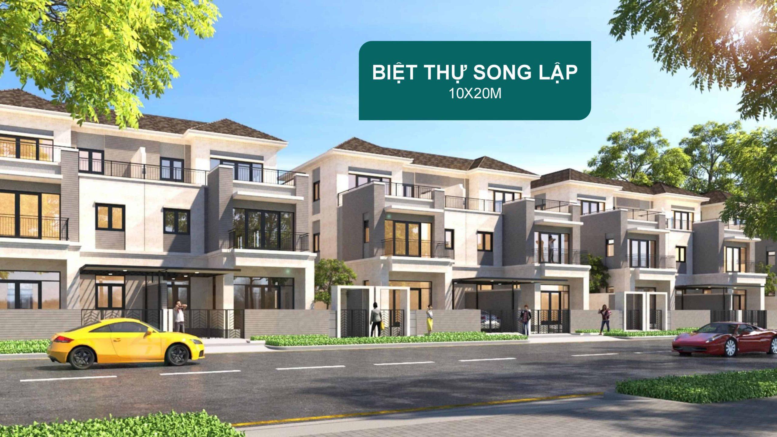 Biet Thu Song Lap Aqua City 10x20