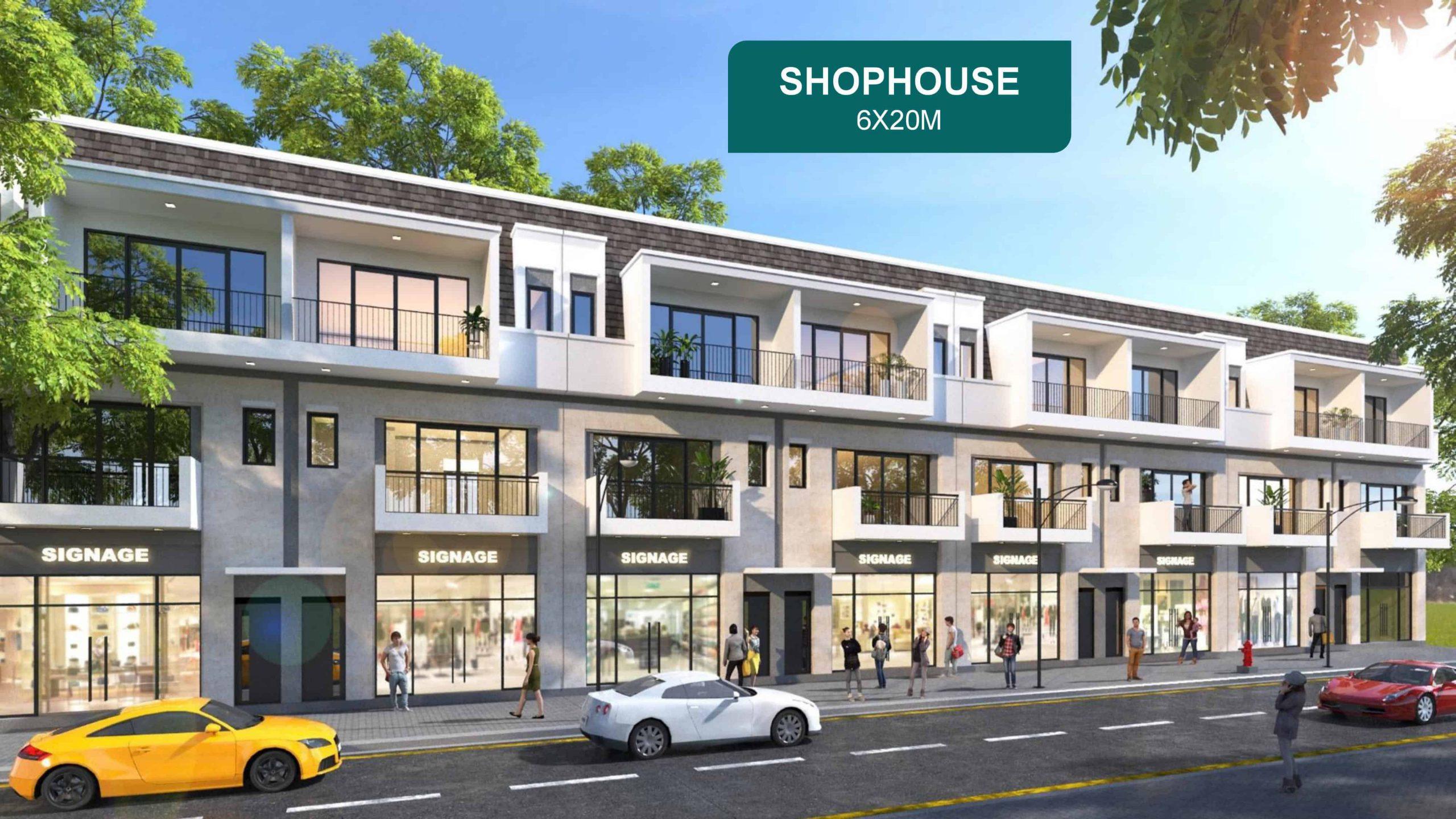 Shop House Aqua City 6x20