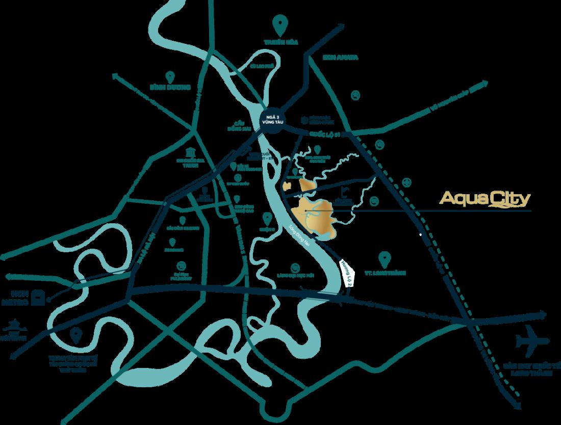 Vi Tri Aqua City Phoenix South Dao Phuong Hoang