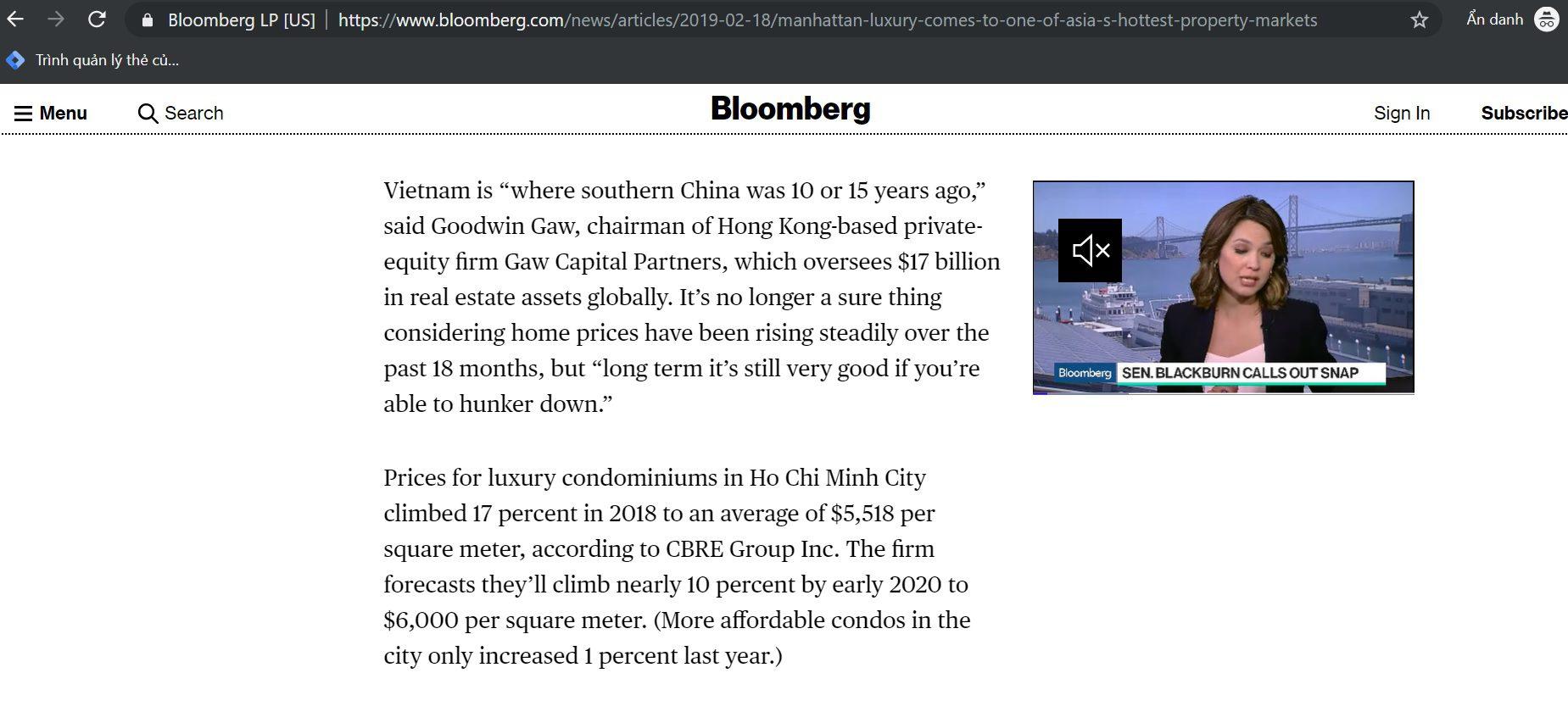Bloomberg Nhan Dinh The Grand Manhattan