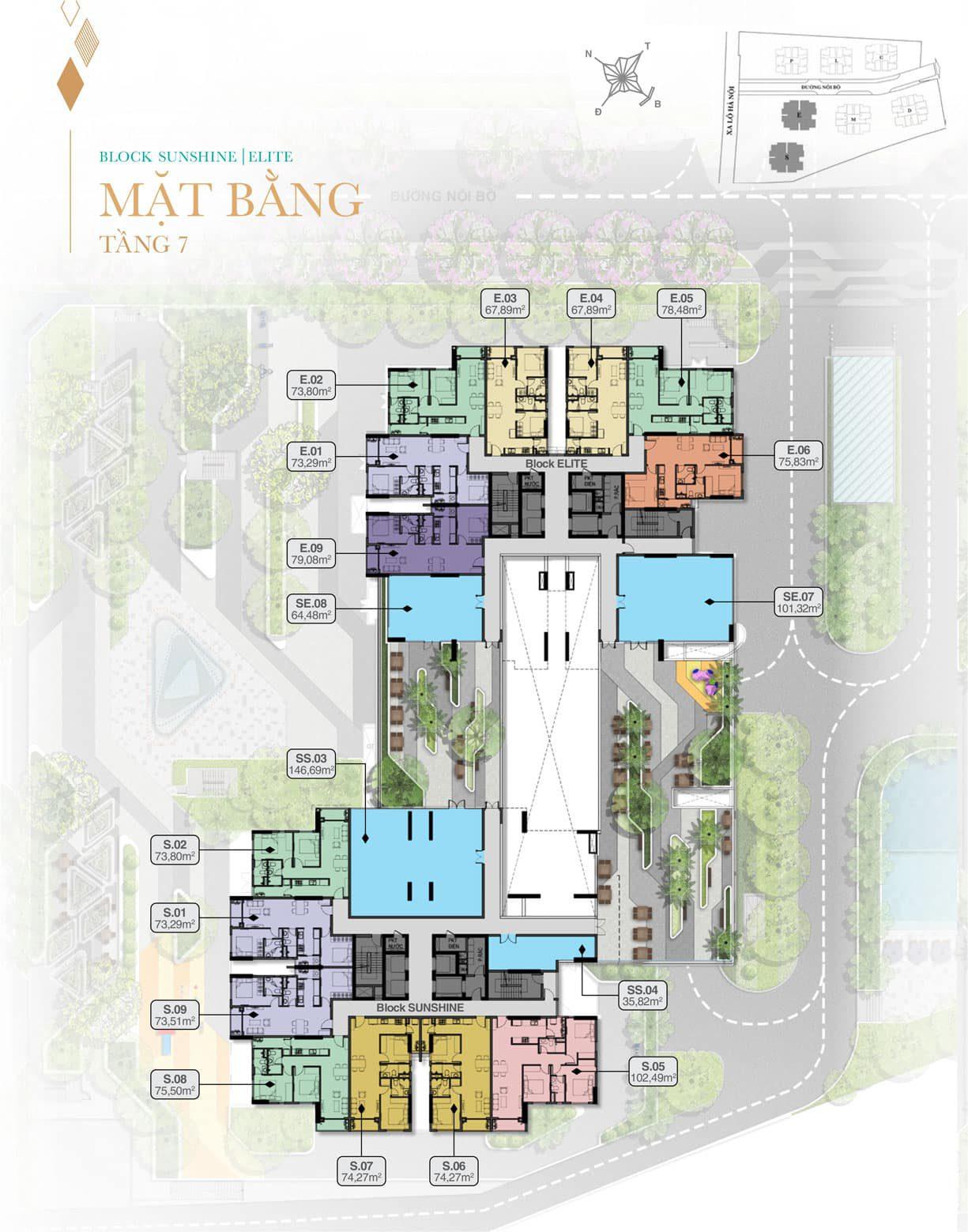 Mat Bang Tang 7 Block Sunshine Va Elite